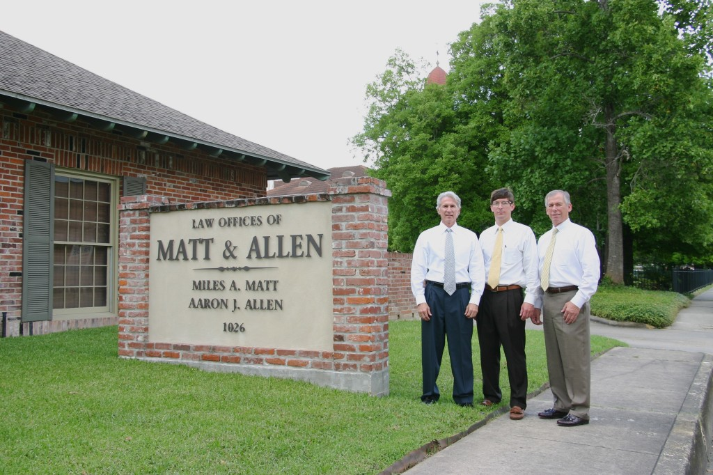 Attorneys Miles Matt, Aaron Allen, and Jason Allen