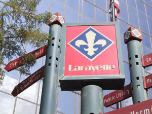 Lafayette, Louisiana sign
